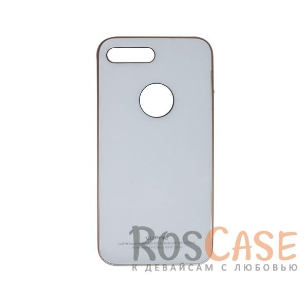 Металлический бампер Luphie с акриловой вставкой для Apple iPhone 7 plus (5.5) (Золотой / Белый)Описание:бренд -&amp;nbsp;Luphie;материал - алюминий, акриловое стекло;совместим с Apple iPhone 7 plus (5.5);тип - бампер со вставкой.Особенности:акриловая вставка;прочный алюминиевый бампер;в наличии все вырезы;ультратонкий дизайн;защита устройства от ударов и царапин.<br><br>Тип: Чехол<br>Бренд: Luphie<br>Материал: Металл