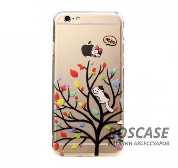 TPU чехол Ultrathin Series 0,33mm для Apple iPhone 6/6s (4.7) (Кот на дереве)Описание:бренд:&amp;nbsp;Epik;совместим с Apple iPhone 6/6s (4.7);материал: термополиуретан;тип: накладка.&amp;nbsp;Особенности:ультратонкий дизайн - 0,33 мм;прозрачный;эластичный и гибкий;надежно фиксируется;все функциональные вырезы в наличии.<br><br>Тип: Чехол<br>Бренд: Epik<br>Материал: TPU