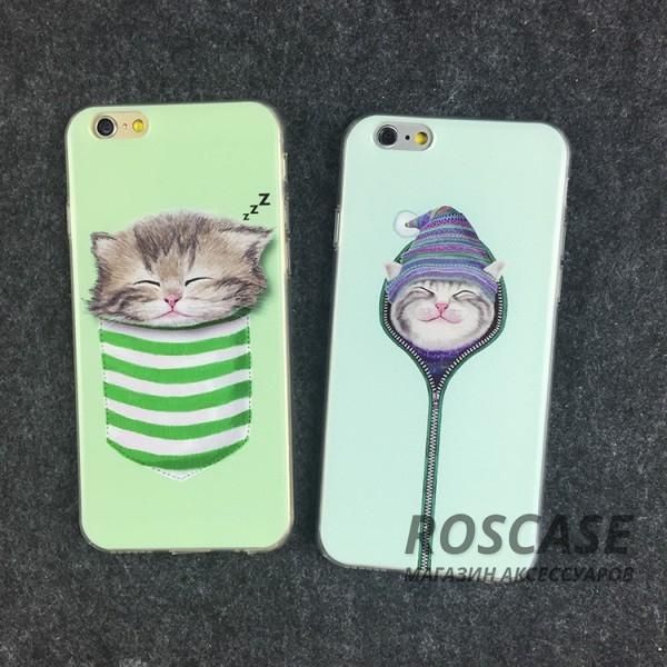 Тонкий силиконовый чехол с принтом Милые котята для Apple iPhone 6/6s (4.7) (Котенок в шапке)Описание:совместимость  -  смартфон Apple iPhone 6/6s (4.7);материал  -  силикон;форм-фактор  -  накладка.Особенности:оригинальный дизайн;высокий уровень прочности и износостойкости;не теряет гибкость и эластичность;не деформируется;не скользит в руках.<br><br>Тип: Чехол<br>Бренд: Epik<br>Материал: TPU