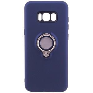 Deen | Матовый чехол для Samsung G955 Galaxy S8 Plus с креплением под магнитный держатель и кольцом-подставкой