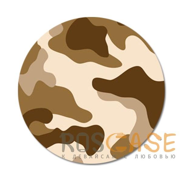 Фото Защитный коричневый Складная подставка-держатель Попсокет с необычными изображениями