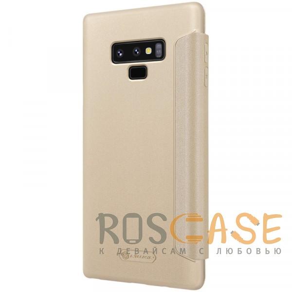 Фото Золотой Nillkin Sparkle | Чехол-книжка для Samsung Galaxy Note 9