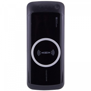 Moxom MР178 | Портативное беспроводное зарядное устройство (18000mAh 2 USB) + кабель MicroUSB / Lightning combo