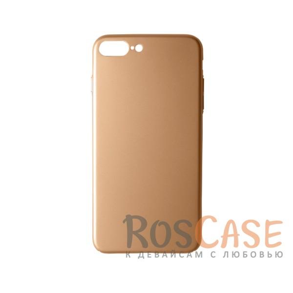 Пластиковая накладка soft-touch с защитой торцов Joyroom для Apple iPhone 7 plus (5.5) (Золотой)<br><br>Тип: Чехол<br>Бренд: Epik<br>Материал: Пластик