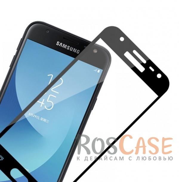Фотография Черный Silk Screen   Защитное стекло 2,5D для Samsung J330 Galaxy J3 (2017)