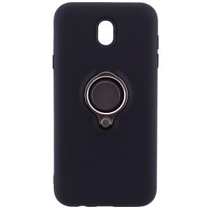 Deen | Матовый чехол для Samsung J730 Galaxy J7 (2017) с креплением под магнитный держатель и кольцом-подставкой