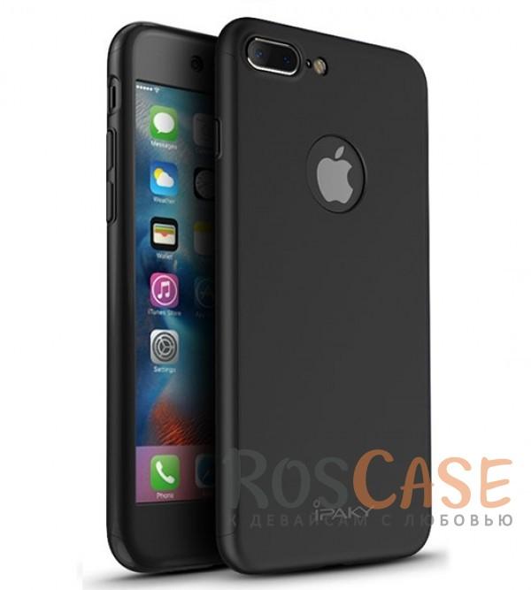 Чехол iPaky 360 градусов для Apple iPhone 7 plus (5.5) (+ стекло на экран) (Черный)Описание:производитель: iPaky;совместим с Apple iPhone 7 plus (5.5);материалы для изготовления: поликарбонат и каленое стекло;форм-фактор: накладка.Особенности:надежная защита: чехол, бампер, стекло;высокий уровень износостойкости и прочности;ультратонкий, не увеличивает визуально объем;легко фиксируется;легко очищается.<br><br>Тип: Чехол<br>Бренд: Epik<br>Материал: Пластик
