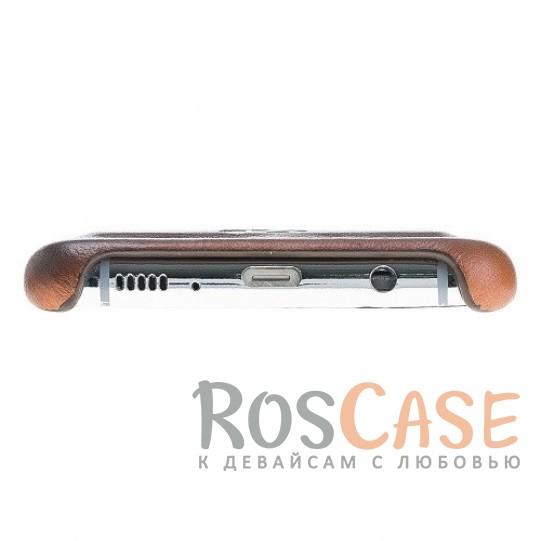 Фотография Премиальная накладка из натуральной кожи с отделениями под пластиковые карты для Samsung Galaxy S8 Plus (G955)