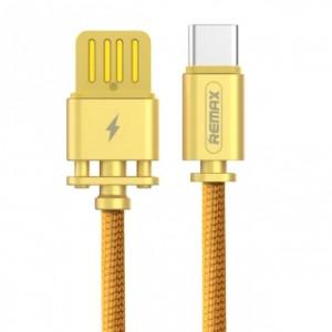 Remax RC-064a | Дата кабель в тканевой оплетке и металлическим разъёмом USB to Type-C (100см) для Apple iPad Air