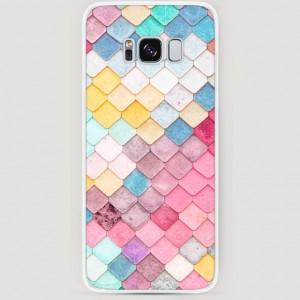 RosCase | Силиконовый чехол Нежные ромбики на Samsung G955 Galaxy S8 Plus