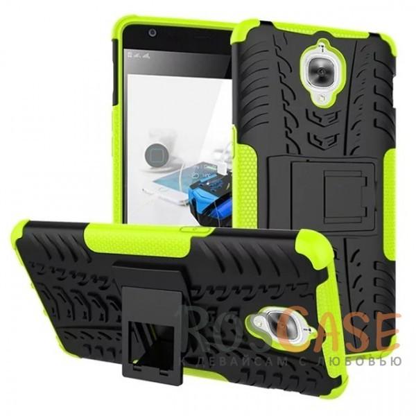 Противоударный двухслойный чехол Shield для OnePlus 3 / OnePlus 3T с подставкой (Зеленый)Описание:разработан специально для OnePlus 3 / OnePlus 3T;материалы: поликарбонат, термополиуретан;тип: накладка.&amp;nbsp;Особенности:двухслойный;ударопрочный;оригинальный дизайн;стильный дизайн;в наличии все функциональные вырезы;функция подставки.<br><br>Тип: Чехол<br>Бренд: Epik<br>Материал: TPU