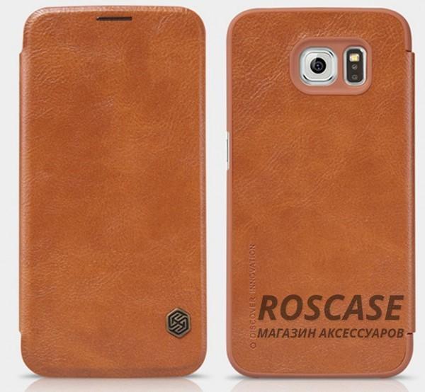 Кожаный чехол (книжка) Nillkin Qin Series для Samsung Galaxy S6 G920F/G920D Duos (Коричневый)Описание:бренд: Nillkin;идеален: Samsung Galaxy S6 G920F/G920D Duos;изготовление: кожа в сочетании с полиуретаном;вид: книжка.Особенности:не скользит в руках;не выгорает;надежная комплексная защита смартфона;практичность материала.<br><br>Тип: Чехол<br>Бренд: Nillkin<br>Материал: Натуральная кожа