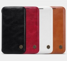 Nillkin Qin натур. кожа | Чехол-книжка  для Samsung Galaxy S6 Edge (G925F)