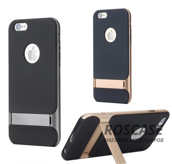 TPU+PC чехол Rock Royce Series с функцией подставки для Apple iPhone 6/6s plus (5.5)Описание:изготовитель: компания&amp;nbsp;Rock;совместим с Apple iPhone 6/6s plus (5.5);произведен из термопластичного полиуретана и качественного поликарбоната;тип крепления: накладка;поверхность: частично матовая, частично глянцевая.Особенности:защищает от повреждений при падениях;имеет двойную конструкцию;функция подставки;не скользит в руках.<br><br>Тип: Чехол<br>Бренд: ROCK<br>Материал: TPU