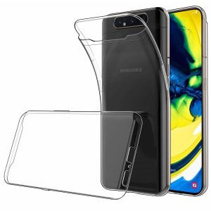 Прозрачный силиконовый чехол  для Samsung Galaxy A80 / A90