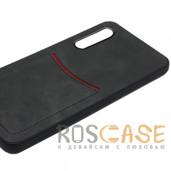 Фото Черный ILEVEL   Чехол с кожаным покрытием и с карманом-визитницей для Huawei P20 Pro