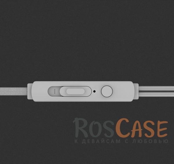 Изображение Серебряный / Silver ROCK Y2 | Наушники с плетеным кабелем и пультом