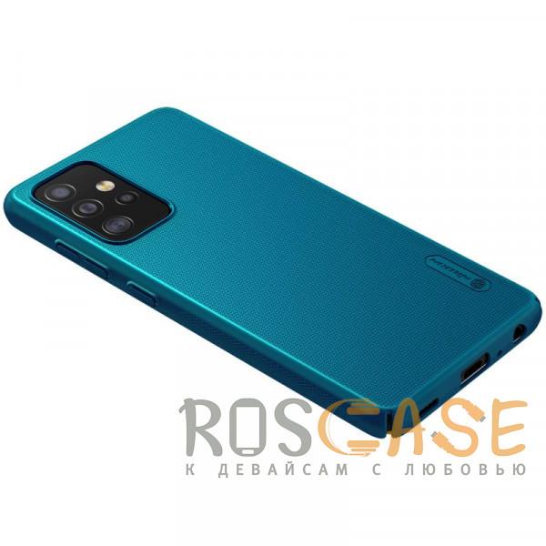 Изображение Синий Nillkin Super Frosted Shield | Матовый пластиковый чехол для Samsung Galaxy A52