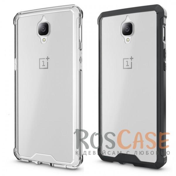Противоударная прозрачная акриловая накладка с укрепленным бампером для защиты углов для OnePlus 3 / OnePlus 3TОписание:формат чехла - накладка;защищает заднюю панель и боковые грани;противоударная конструкция;разработан для OnePlus 3 / OnePlus 3T;материалы - акрил, термополиуретан;предусмотрены все функциональные вырезы.<br><br>Тип: Чехол<br>Бренд: Epik<br>Материал: Пластик