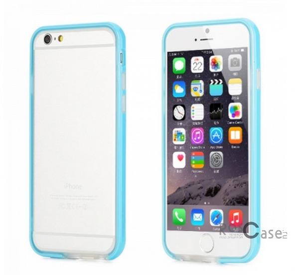 Бампер ROCK Duplex Slim Guard для Apple iPhone 6/6s (4.7)  (Бирюзовый / Azure)Описание:производитель  - &amp;nbsp;Rock;создан специально для Apple iPhone 6/6s (4.7);материал - поликарбонат, термополиуретан;защищает боковые части аппарата.Особенности:ультратонкий, всего 2 мм;представлен в широком цветовом диапазоне;простая установка;обладает высоким уровнем устойчивости к внешним воздействиям.<br><br>Тип: Бампер<br>Бренд: ROCK