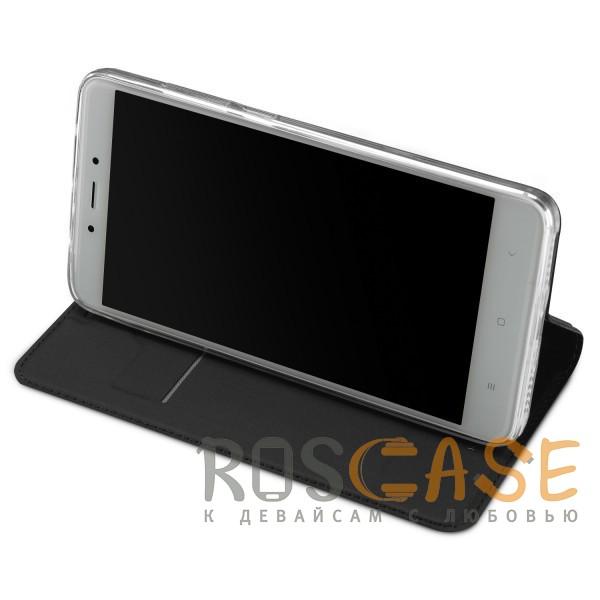 Фотография Серый Dux Ducis | Чехол-книжка для Xiaomi Redmi Note 4 (MTK) с подставкой и карманом для визиток