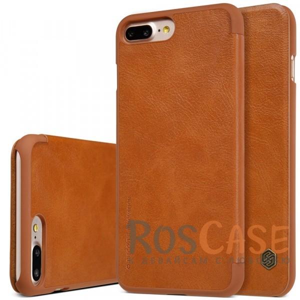 Кожаный чехол (книжка) Nillkin Qin Series для Apple iPhone 7 plus (5.5) (Коричневый)Описание:производитель:&amp;nbsp;Nillkin;совместим с Apple iPhone 7 plus (5.5);материал: натуральная кожа;тип: чехол-книжка.&amp;nbsp;Особенности:защита от механических повреждений;ультратонкий;фактурная поверхность;внутренняя отделка микрофиброй.<br><br>Тип: Чехол<br>Бренд: Nillkin<br>Материал: Искусственная кожа