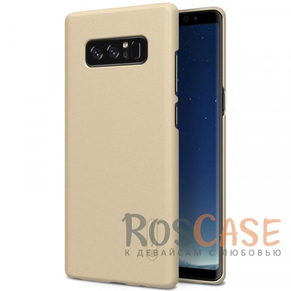 Матовый чехол для Samsung Galaxy Note8 (+ пленка) (Золотой)Описание:бренд&amp;nbsp;Nillkin;совместимость: Samsung Galaxy Note8;материал: поликарбонат;тип: накладка;закрывает заднюю панель и боковые грани;защищает от ударов и царапин;рельефная фактура;не скользит в руках;ультратонкий дизайн;защитная плёнка на экран в комплекте.<br><br>Тип: Чехол<br>Бренд: Nillkin<br>Материал: Поликарбонат