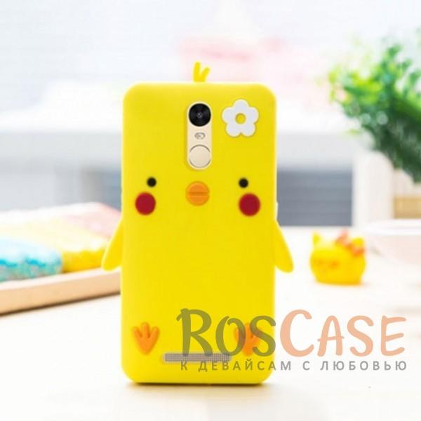 Силиконовый чехол Цыпленок Цыпа со шнурком для Xiaomi Redmi Note 3 / Redmi Note 3 Pro (Желтый)<br><br>Тип: Чехол<br>Бренд: Epik<br>Материал: Силикон