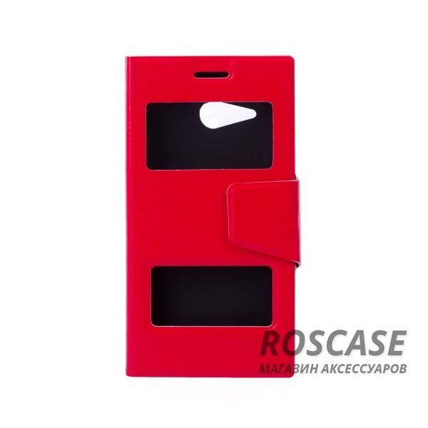 Чехол (книжка) с TPU креплением для Microsoft Lumia 730/735 (Красный)Описание:компания разработчик: Epik;совместимость с устройством модели: Microsoft Lumia 730/735;материал изделия: синтетическая кожа и TPU;конфигурация: обложка в виде книжки.Особенности:высокая износоустойчивость;ТПУ каркас с магнитной застежкой;классическая конструкция;два окна в обложке.<br><br>Тип: Чехол<br>Бренд: Epik<br>Материал: Искусственная кожа