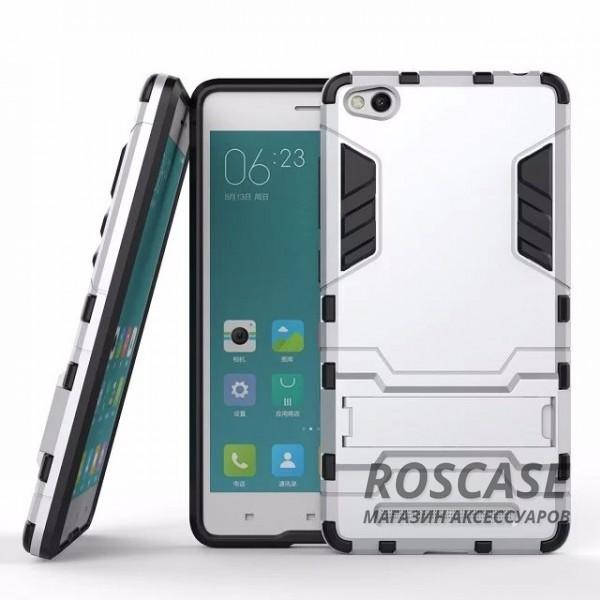 Ударопрочный чехол-подставка Transformer для Xiaomi Redmi 3 с мощной защитой корпуса (Серебряный / Satin Silver)Описание:совместим c Xiaomi Redmi 3;материалы изделия  -  термополиуретан, поликарбонат;вид форм-фактора  -  накладка.Особенности:ударопрочный;простая фиксация и наличие функции подставки;морозоустойчивый;легко очищается от загрязнения.<br><br>Тип: Чехол<br>Бренд: Epik<br>Материал: TPU