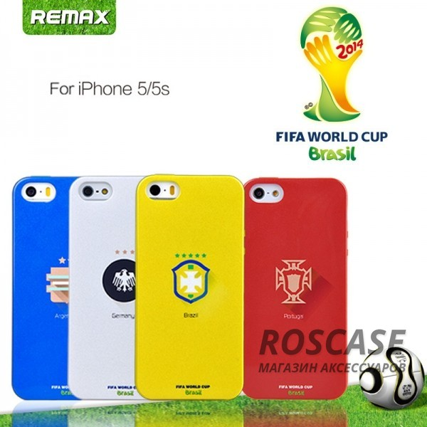 "фото TPU чехол Remax World Cup ""Brazil"" для Apple iPhone 5/5S/5SE"