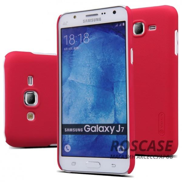Чехол Nillkin Matte для Samsung J700H Galaxy J7 (+ пленка) (Красный)Описание:производитель -&amp;nbsp;Nillkin;материал - поликарбонат;совместим с Samsung J700H Galaxy J7;тип - накладка.&amp;nbsp;Особенности:матовый;прочный;тонкий дизайн;не скользит в руках;не выцветает;пленка в комплекте.<br><br>Тип: Чехол<br>Бренд: Nillkin<br>Материал: Поликарбонат