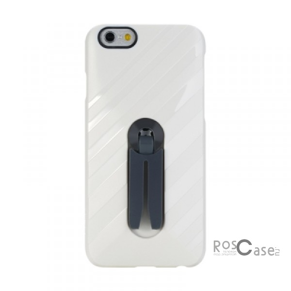 Фото Белый / White Rock Car Mount | Чехол для Apple iPhone 6/6s с функцией подставки + автодержатель