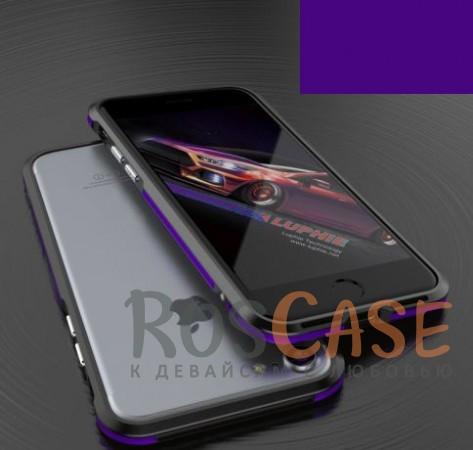 Алюминиевый бампер Luphie Blade Sword для Apple iPhone 7 (4.7) (Черный / Фиолетовый)Описание:бренд -&amp;nbsp;Luphie;материал - алюминий;совместим с Apple iPhone 7 (4.7);тип - бампер.Особенности:двухцветный дизайн;усиливает звук;прочный алюминий;в наличии все вырезы;ультратонкий дизайн;защита граней от ударов и царапин.<br><br>Тип: Чехол<br>Бренд: Luphie<br>Материал: Металл