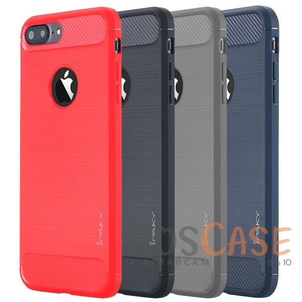 Стильный чехол с карбоновыми вставками iPaky (original) Slim для Apple iPhone 7 plus / 8 plus (5.5)Описание:бренд - iPaky;совместим с Apple iPhone 7 plus / 8 plus (5.5);материал: термополиуретан;тип: накладка.Особенности:эластичный;свойство анти-отпечатки;защита углов от ударов;ультратонкий;защита боковых кнопок;надежная фиксация.<br><br>Тип: Чехол<br>Бренд: iPaky<br>Материал: TPU