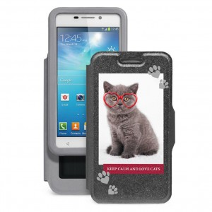 "Gresso ""Пушистики-котенок в очках"" |  чехол-книжка с принтом для Samsung Galaxy Note 3 Neo (N7502/N7505)"