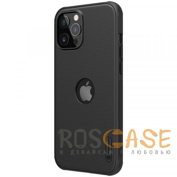 Фотография Черный Nillkin Super Frosted Shield Pro   Матовый пластиковый чехол для iPhone 12 / 12 Pro с отверстием под лого