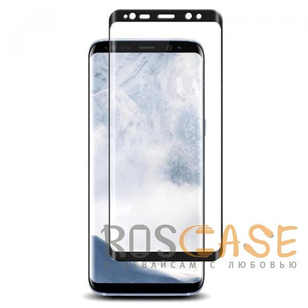 Фотография Черный Объемное защитное 3D стекло для Samsung Galaxy S9 на весь экран