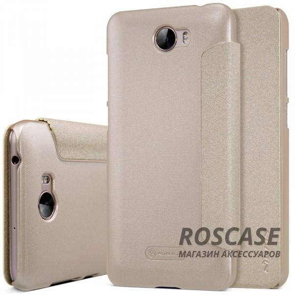 Кожаный чехол (книжка) Nillkin Sparkle Series для Huawei Y5 II / Honor Play 5 (Золотой)Описание:производитель -&amp;nbsp;Nillkin;разработан для Huawei Y5 II / Honor Play 5;материал - искусственная кожа, поликарбонат;тип - чехол-книжка.Особенности:блестящая поверхность;защита от царапин и ударов;тонкий дизайн;защита со всех сторон;не скользит в руках.<br><br>Тип: Чехол<br>Бренд: Nillkin<br>Материал: Искусственная кожа