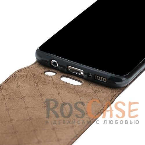 Фотография Вертикальный чехол-флип из натуральной кожи с фактурой крокодиловой кожи с магнитной застежкой для Samsung Galaxy S8 Plus (G955)