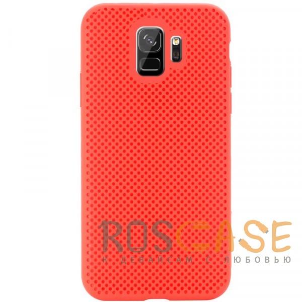 Фото Красный Air Color Slim | Силиконовый чехол для Samsung Galaxy S9 с перфорацией