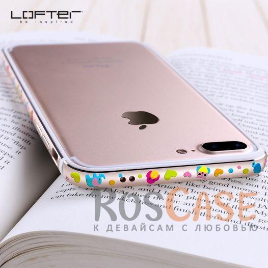 Женский металлический бампер с рисунком милых зверушек Lofter Cutie для Apple iPhone 7 plus / 8 plus (5.5) (Слоник)<br><br>Тип: Чехол<br>Бренд: Epik<br>Материал: Металл