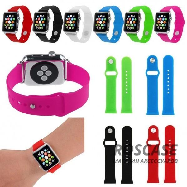 Силиконовый ремешок для Apple watch 38mmОписание:бренд -&amp;nbsp;Epik;изготовлен для Apple watch 38mm;материал  -  силикон;тип  -  ремешок.&amp;nbsp;Особенности:не скользит на руке;регулируемая длина;подходит на запястья с разным диаметром;надежно крепится к девайсу;не боится влаги;разнообразная палитра цветов.<br><br>Тип: Общие аксессуары<br>Бренд: Epik