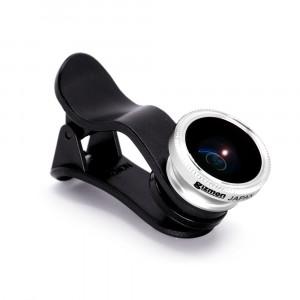 Фото линза-объектив 3 в 1 (fish eye, широкоугольная, макросъемка)