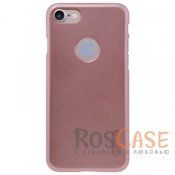 "Фото Розовый / Rose Gold Nillkin Super Frosted Shield | Матовый чехол для Apple iPhone 7 (4.7"") (+ пленка)"
