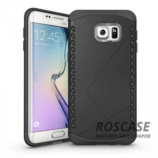 Противоударный защитный чехол Armor для Samsung Galaxy S6 Edge с усиленным прорезиненным бампером (Черный)Описание:идеально совместим с&amp;nbsp;Samsung G925F Galaxy S6 Edge;материалы: термополиуретан, поликарбонат;формат: накладка.Особенности:защита от ударов;двойной корпус;не скользит в руках;усиленный бампер;присутствуют все необходимые вырезы.<br><br>Тип: Чехол<br>Бренд: Epik<br>Материал: TPU