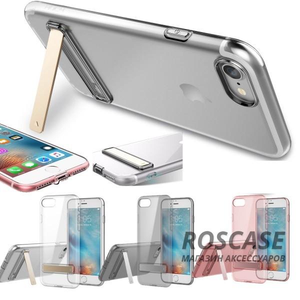 Прозрачный ультратонкий силиконовый чехол ROCK Slim Jacket с функцией подставки для Apple iPhone 7 / 8 (4.7)Описание:бренд: Rock;совместим с Apple iPhone 7 / 8 (4.7);материал: термопластичный полиуретан;форма чехла: накладка.&amp;nbsp;Особенности:все функциональные вырезы предусмотрены;тонкий;прозрачный;защита от царапин и ударов;функция подставки;идеально прилегает.<br><br>Тип: Чехол<br>Бренд: ROCK<br>Материал: TPU