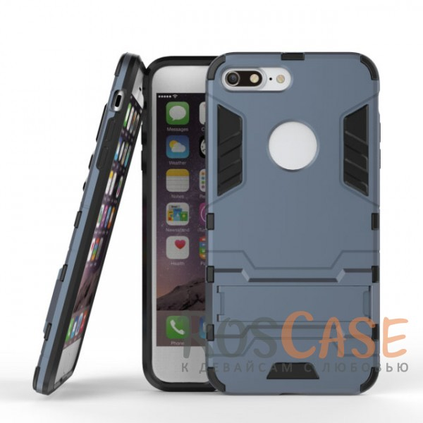 Ударопрочный чехол-подставка Transformer для Apple iPhone 7 plus (5.5) с мощной защитой корпуса (Серый / Metal slate)Описание:подходит для Apple iPhone 7 plus (5.5);материалы: термополиуретан, поликарбонат;формат: накладка.&amp;nbsp;Особенности:функциональные вырезы;функция подставки;двойная степень защиты;защита от механических повреждений;не скользит в руках.<br><br>Тип: Чехол<br>Бренд: Epik<br>Материал: TPU