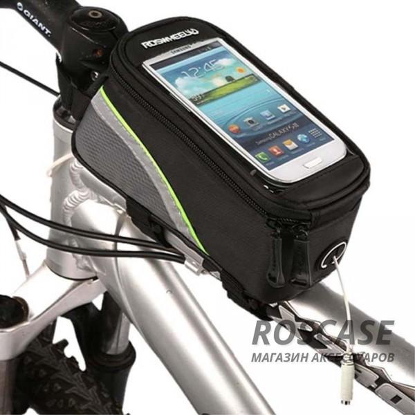 Велосипедная сумка для телефонов 4.2 (Зеленый)Описание:производитель  - &amp;nbsp;Epik;материал - полиэстер;совместим со смартфонами с диагональю до 4,2;тип  -  велосипедная сумка.&amp;nbsp;Особенности:крепится на руль или раму;сумка застегивается на молнию;можно управлять смартфоном через окошко;фиксируется при помощи липучки;разъем для кабеля;в комплекте удлинитель для наушников (20 см).<br><br>Тип: Общие аксессуары<br>Бренд: Epik