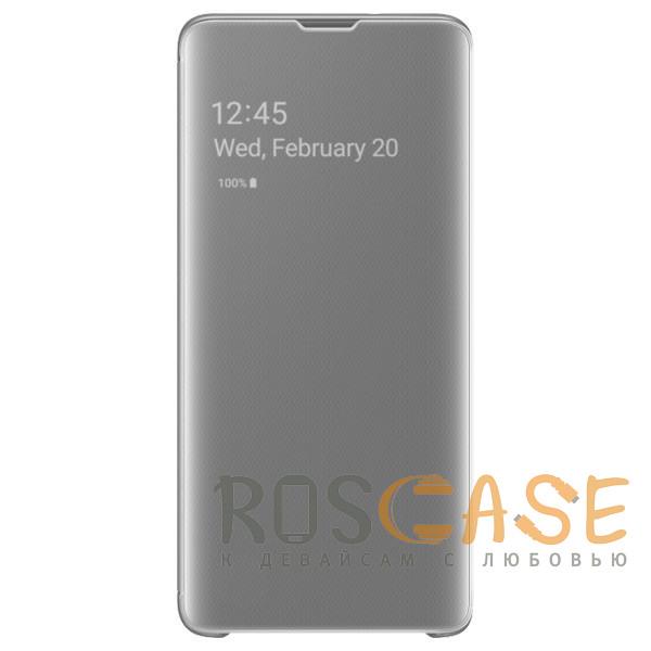 Фото Серебряный Чехол-книжка Clear View Standing Cover для Samsung Galaxy S10